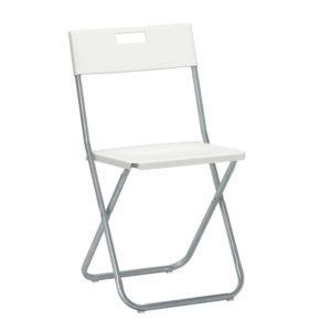 Складной стул Гунде белый