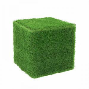 Пуф из травы квадратный