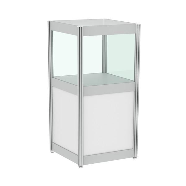 Аренда квадратной витрины со стеклом