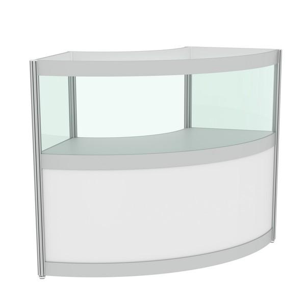 полукруглая витрина со стеклом в аренду