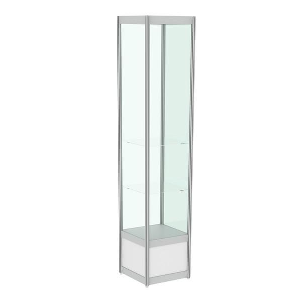 Стеклянная витрина узкая в аренду