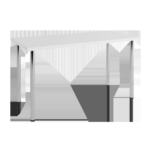 стол хромированный белый