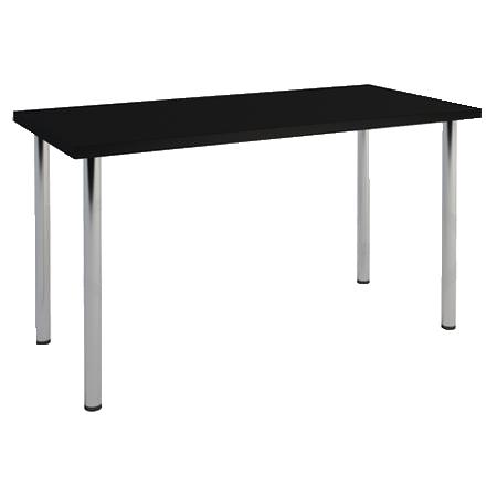 стол хромированный черный
